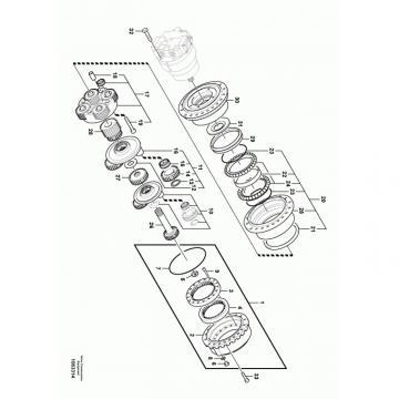 JCB 190 T4F Reman Hydraulic Final Drive Motor